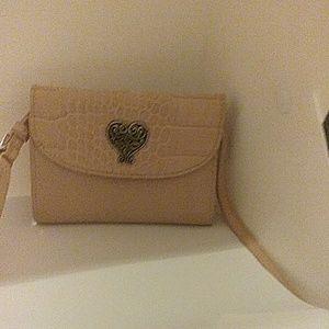 Brighton Cream color tri-fold  wallet/crossbody